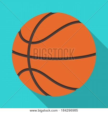 basketball.Basketball single icon in flat style vector symbol stock illustration .