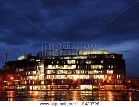 Metropolitan  building,  Night view.