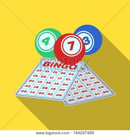 Lottery.Old age single icon in flat style vector symbol stock illustration .