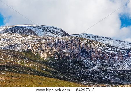Rocky Outcrops Covered In Snow At Mount Kosciuszko National Park, Australia