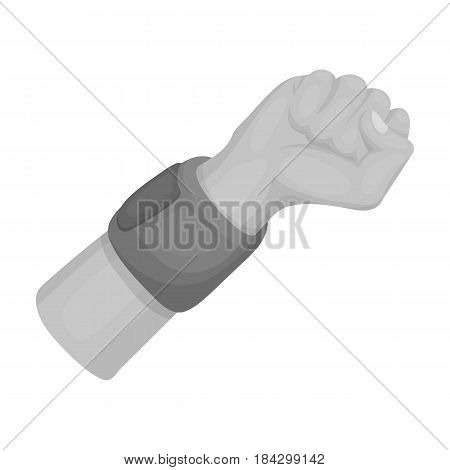Arm with bandage.Basketball single icon in monochrome style vector symbol stock illustration .