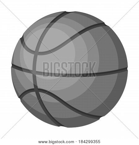 basketball.Basketball single icon in monochrome style vector symbol stock illustration .