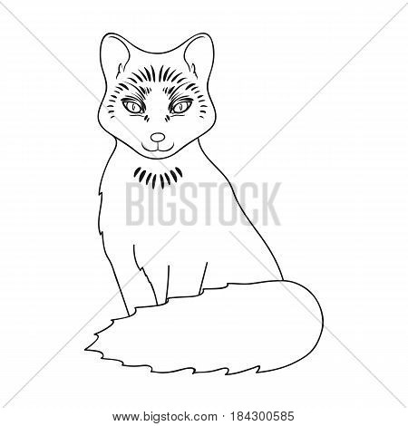 Red fox.Animals single icon in outline style vector symbol stock illustration .