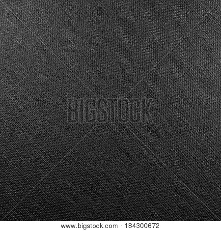 Natural bright black fiber linen fabric texture large detailed macro closeup rustic vintage textured burlap canvas background diagonal pattern horizontal copy space