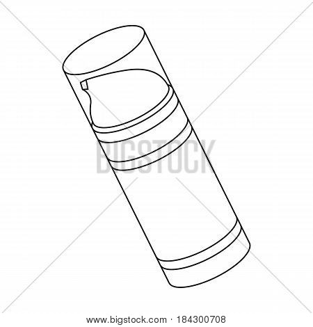 Shaving foam.Barbershop single icon in outline style vector symbol stock illustration .