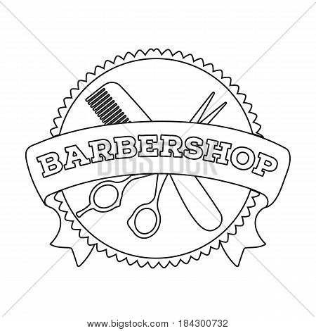Barber's sign.Barbershop single icon in outline style vector symbol stock illustration .
