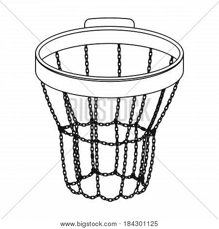 Basketball hoop.Basketball single icon in outline style vector symbol stock illustration .