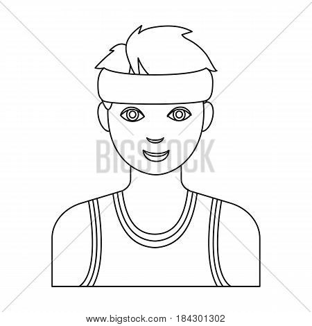 Basketball referee.Basketball single icon in outline style vector symbol stock illustration .