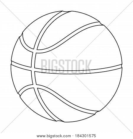 basketball.Basketball single icon in outline style vector symbol stock illustration .