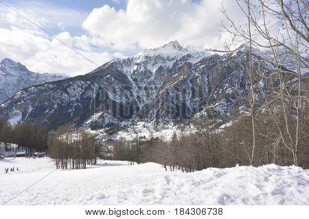 Bardonecchia , Italian alps in ski season