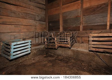 A chicken coop lined a wall in Sleeping Bear Dunes National Lakeshore, Michigan