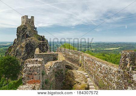 Old castle ruin in Czech Republic