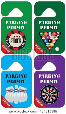 Parking permit only for the zone of the gaming business