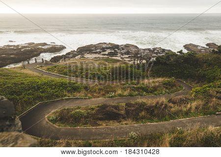 Winding Path To Shoreline