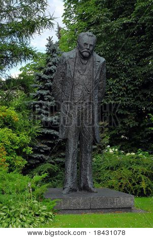 Boleslaw Prus old monument in Warsaw. Famous polish writer from beggining of last century.