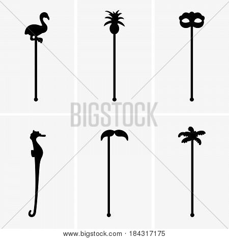 Set of six swizzle sticks ( shade pictures )