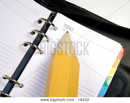 Day Planner & Pencil