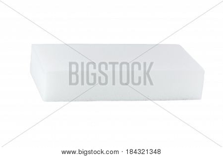 white sponge for cleaning on a white background