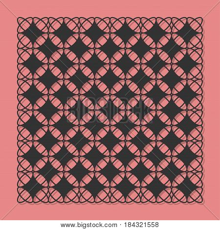 Decorative panel for laser cutting. A modern versatile classic pattern. The ratio is 1: 1. Vector illustration.