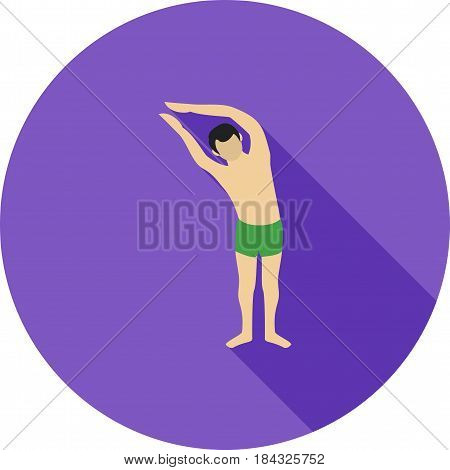 Pose, moon, right icon vector image. Can also be used for yoga poses. Suitable for mobile apps, web apps and print media.