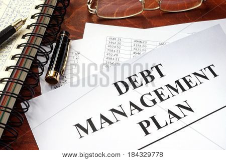 Document with title debt management plan DPM.