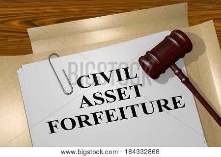 Civil Asset Forfeiture Concept