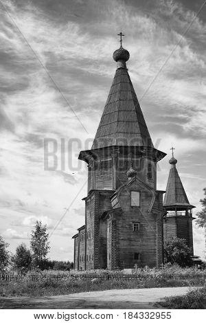 Pokrovskaya church in Lyadin of the Arkhangelsk region. XVIII century