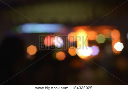Blurred abstract light effect background.  Citylights in the night with out of focus effect.
