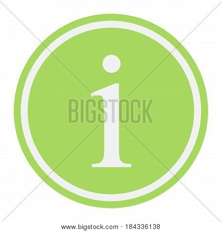 Information sign flat icon, info and website button, vector graphics, a colorful solid pattern on a white background, eps 10.