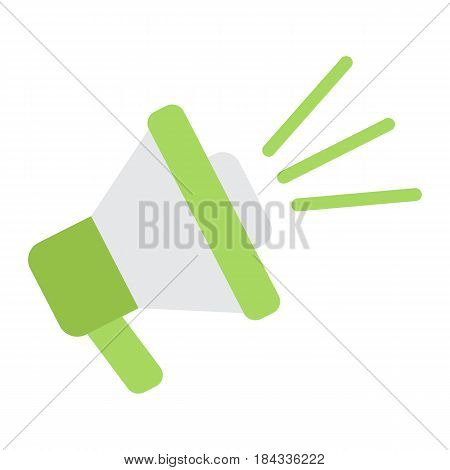 Loudspeaker flat icon, megaphone and website button, horn vector graphics, a colorful solid pattern on a white background, eps 10.