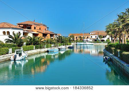 Marina di Policoro boat village Basilicata Italy