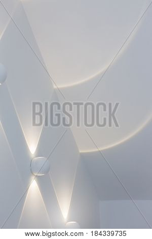 Abstract Warm Light On Wall stock photo