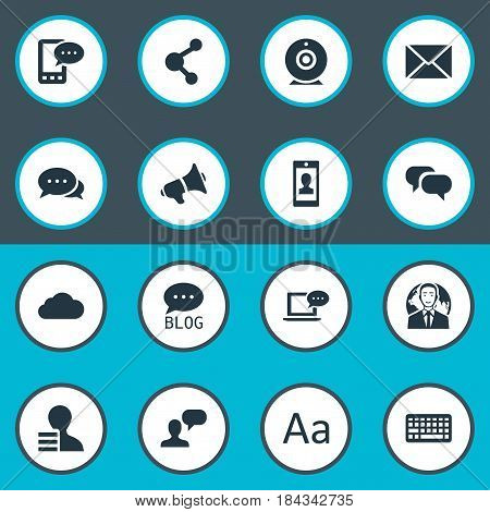 Vector Illustration Set Of Simple User Icons. Elements Profile, International Businessman, Overcast And Other Synonyms Profile, Forum And Conversation.