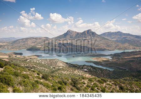 Views of Zahara - El Gastor Reservoir, Cadiz, Andalusia, Spain