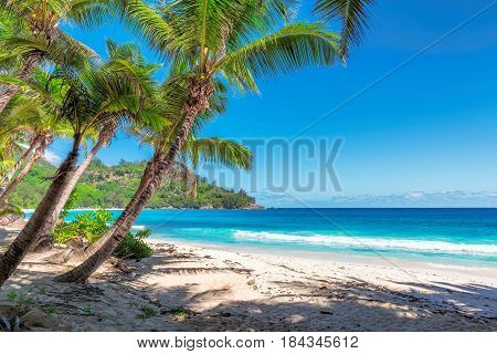 The Beautiful Anse Intendance beach on Seychelles.