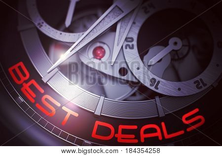 Best Deals on Mechanical Pocket Watch Detail, Chronograph Up Close. Concept with Glowing Light Effect. 3D Rendering.