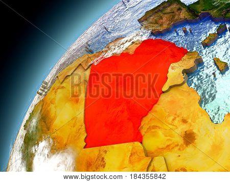 Algeria From Orbit Of Model Earth