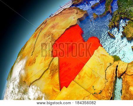 Libya From Orbit Of Model Earth