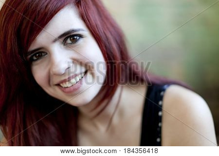 Smiling redheaded teenager