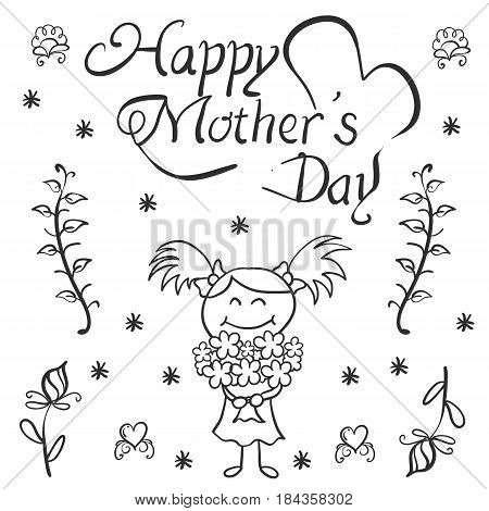 Happy mother day card collection stock vector art
