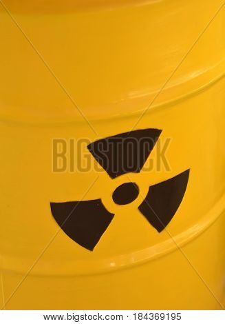 Radioactive Yellow Barrel Of Waste Detail Photography
