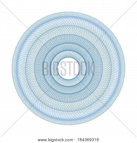 Guilloche Rosette Or Element For Certificate Design Isolated On White Background