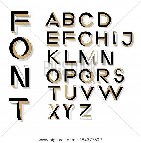 Impossible Geometry Letters. Impossible Shape Font. Low Poly 3D Characters. Geometric Font. Isometri