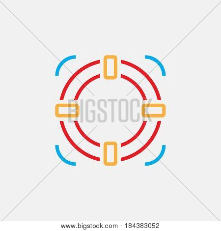 Lifebuoy Line Icon, Help Color Outline Vector Illustration, Linear Pictogram Isolated On White