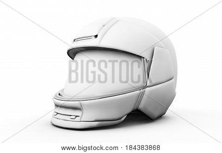 High resolution 3d render moto helmet. Visor, Scooter, Motocross