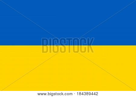 The national flag of Ukraine is the official state symbol of Ukraine, as well as one of the national symbols of Ukrainians.Flat vector illustration. EPS10.