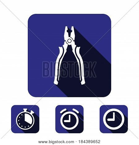 pliers icon stock vector illustration flat design
