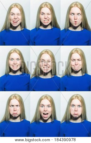 Girl Changes Her Emotions On Face