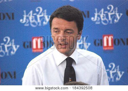 Giffoni Valle Piana Sa Italy - July 16 2012 : Matteo Renzi at Giffoni Film Festival 2012 - on July 16 2012 in Giffoni Valle Piana Italy