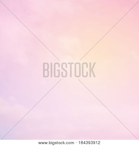 Soft Pink background. Beautiful Delicate Sky Wallpaper. Amazing Backdrop with gradient filter. Wonderful Square Image with Gradient Filter. Pastel texture with Copy Space